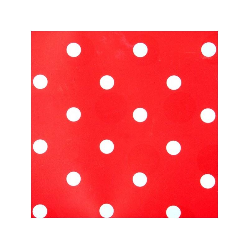 Adhesivo Decorativo Rojo Con Puntos Papel Adhesivo