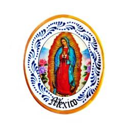 Plat miniature aimanté Vierge de Guadalupe