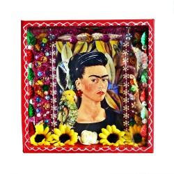 Niche Frida Kahlo Autoportrait avec Bonito