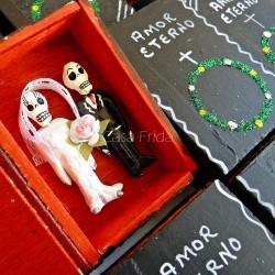 """Boîte cercueil Têtes de Mort - """"Amor Eterno"""""""