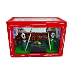 Boîte vitrine Les joueurs de billard