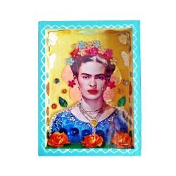 Niche Frida Kahlo avec couronne de fleurs