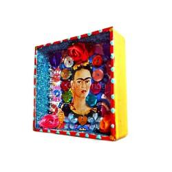 Mini niche Frida Kahlo Autoportrait encadré
