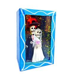Boîte vitrine Vive les mariés! - Bleu