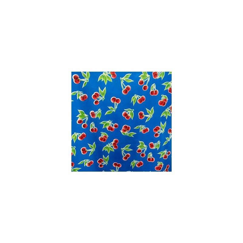 toile cir e cerezas bleu toile enduite au motif r tro. Black Bedroom Furniture Sets. Home Design Ideas