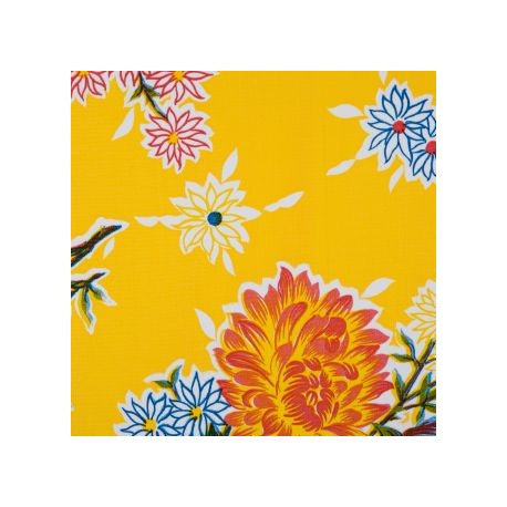 toile cir e crisantemos jaune toile enduite fleurs. Black Bedroom Furniture Sets. Home Design Ideas