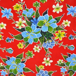 Red Hibisco oilcloth