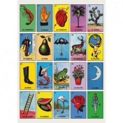 Poster vintage Loteria - Affiche bingo mexicain rétro - Casa Frida