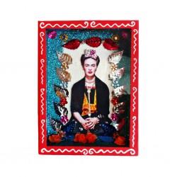Niche Frida Kahlo avec fleurs oranges