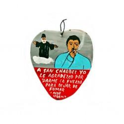 Ex-voto peint dédié à San Charbel