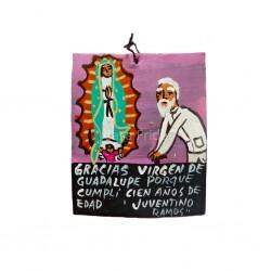 Ex-voto peint dédié à la Vierge de Guadalupe