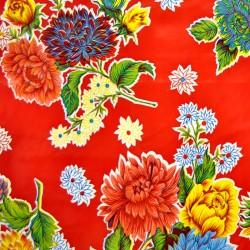 toile cir e crisantemos rouge toile enduite fleurs. Black Bedroom Furniture Sets. Home Design Ideas