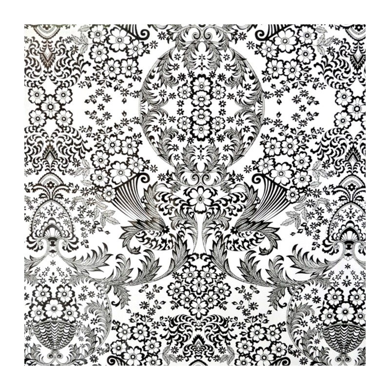 toile cir e eden noir toile enduite motif dentelle. Black Bedroom Furniture Sets. Home Design Ideas
