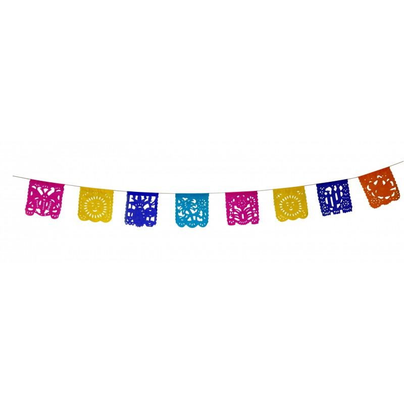 Paper Banner Marieta Mexican Papel Picado Party Banner