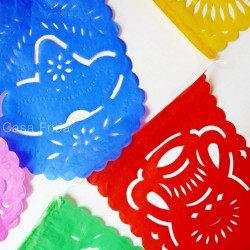 Guirlande en papier Fiesta - Décoration mexicaine papel picado - Casa Frida
