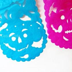 Guirlande en papier Dia de Muertos - Fête des morts mexique - Casa Frida