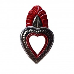 Coeur sacré à miroir Feuille