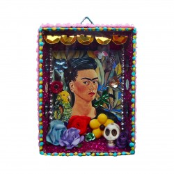 Frida Kahlo mini shrine Selfportrait