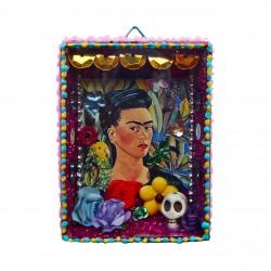 Niche Frida Kahlo avec perroquets