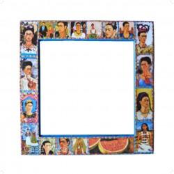 Miroir Frida Kahlo - Bleu - Décoration mexicaine - Casa Frida