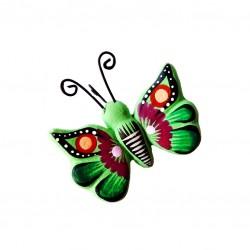 Magnet papillon en terre cuite - Artisanat mexicain - Casa Frida