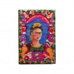 Magnet en bois Autoportrait encadré - Aimant Frida Kahlo - Casa Frida