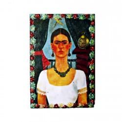 Magnet en bois El tiempo vuela - Aimant Frida Kahlo - Casa Frida