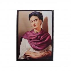 Mini cadre Frida Kahlo avec châle rouge