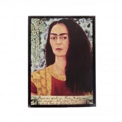 Mini cadre Autoportrait avec les cheveux lachés