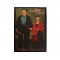 Mini cadre Frida et Diego Rivera