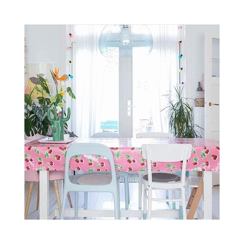 toile cir e cerezas rose toile enduite au motif r tro. Black Bedroom Furniture Sets. Home Design Ideas