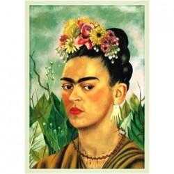Poster Autoportrait Frida Kahlo - Peintre féministe mexicaine - Casa Frida