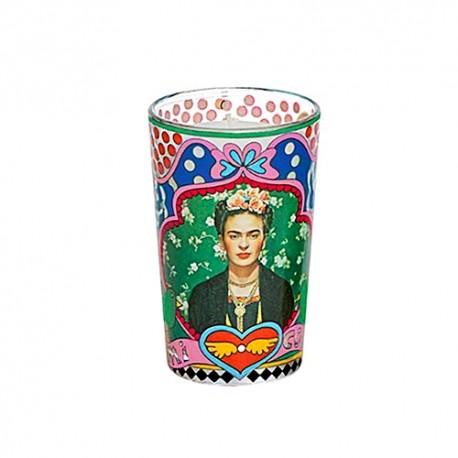 Bougie verre Frida Kahlo - Idée cadeau décoration mexicaine - Casa Frida