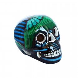 Crâne mexicain avec oiseau noir - Fête des morts mexicaine - Casa Frida