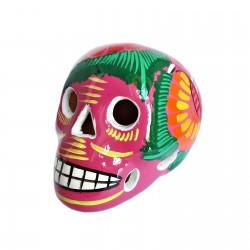 Crâne mexicain avec oiseau Rose - Fête des morts mexicaine - Casa Frida