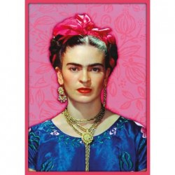 Póster Frida Kahlo Rosa