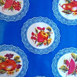 toile cir e carpetas bleu toile enduite motif vintage casa frida. Black Bedroom Furniture Sets. Home Design Ideas