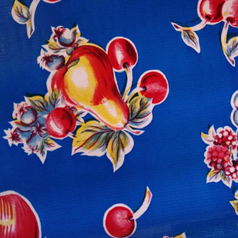 toile cir e verano bleu toile enduite fruits vintage casa frida. Black Bedroom Furniture Sets. Home Design Ideas
