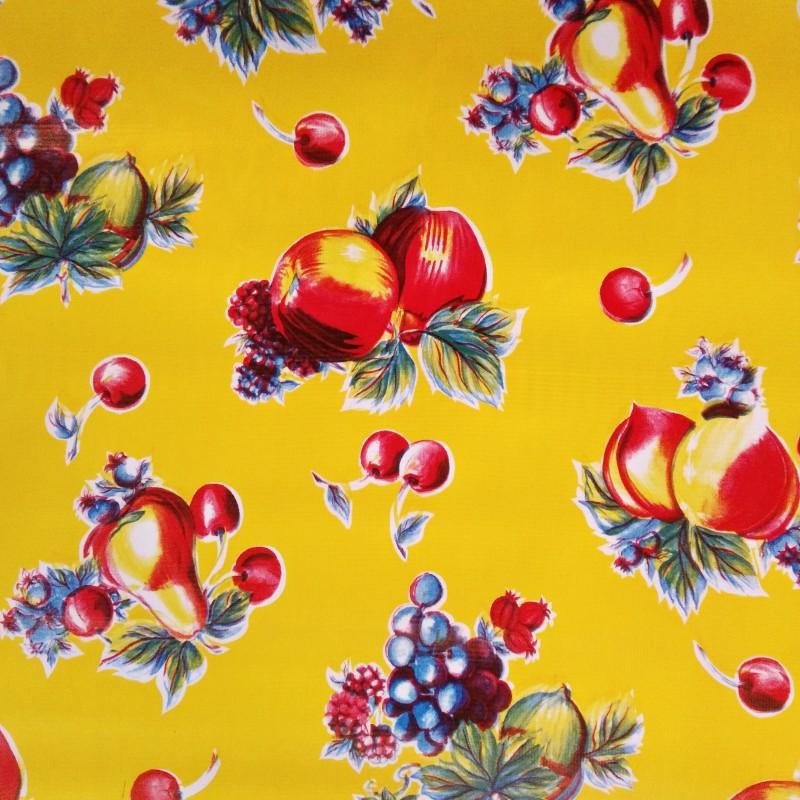 toile cir e verano jaune toile enduite fruits vintage casa frida. Black Bedroom Furniture Sets. Home Design Ideas