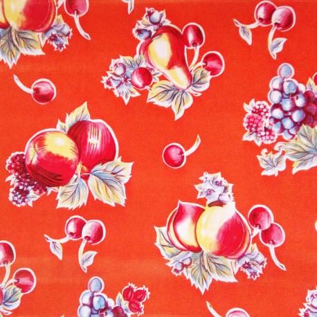 toile cir e verano orange toile enduite fruits vintage casa frida. Black Bedroom Furniture Sets. Home Design Ideas