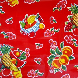 Toile cirée Tropical Rouge