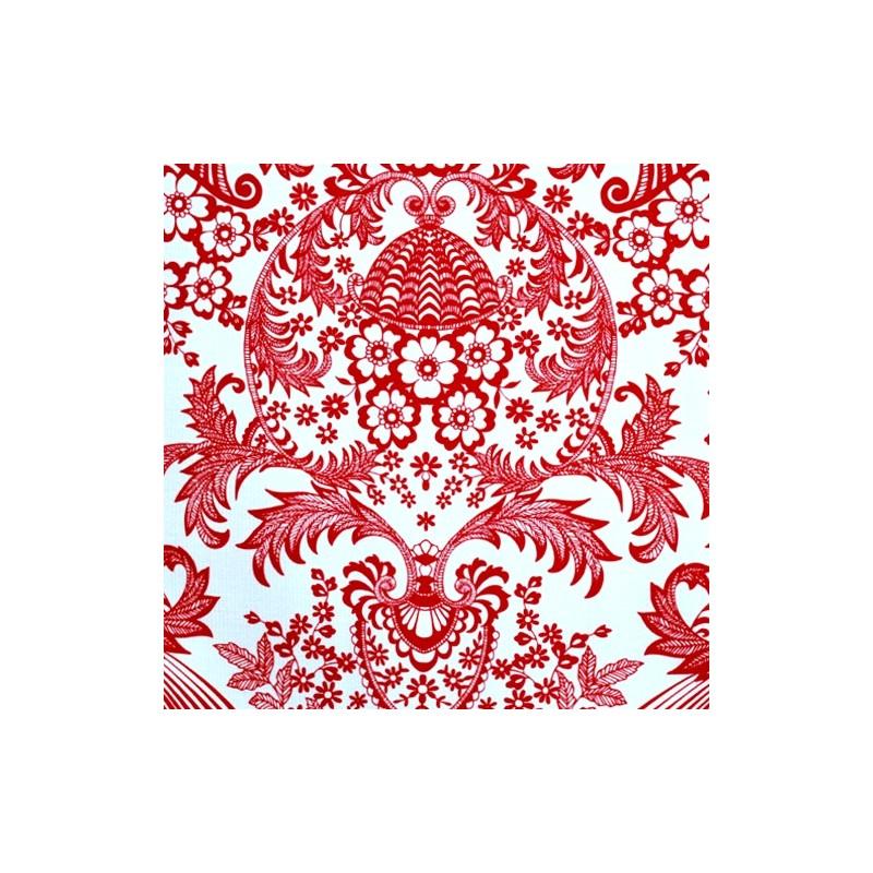 toile cir e eden rouge toile enduite au motif dentelle. Black Bedroom Furniture Sets. Home Design Ideas