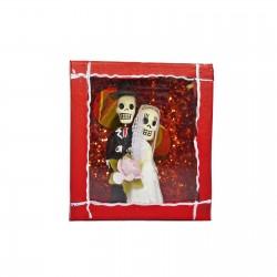 Boîte vitrine Les mariés Rouge