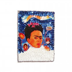 Patch sequins Viva Frida! Blanc