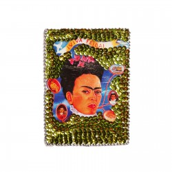 Patch sequins Viva Frida! Vert