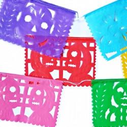 Papel picado de plástico Día de Muertos