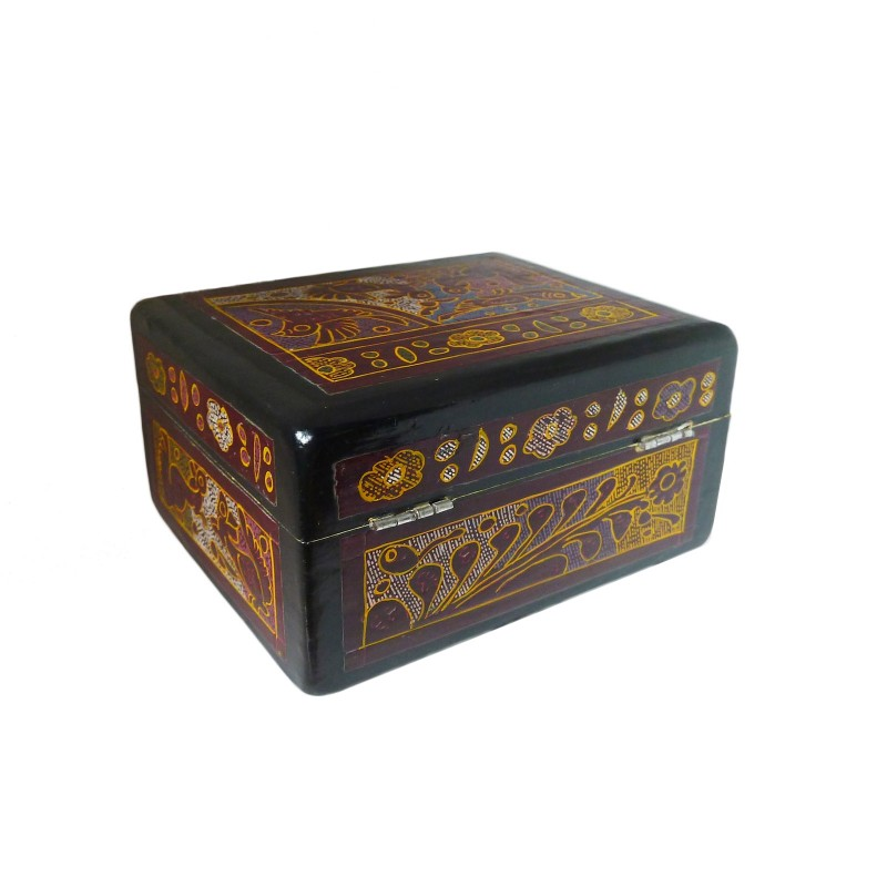 Caja de laca de olinal madera de linaloe de m xico - Laca blanca para madera ...