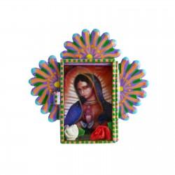 Mini niche Vierge de Guadalupe Lilas