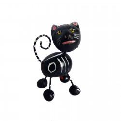 Figurine calavera chat Noir