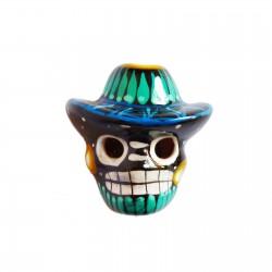 Magnet Crâne au sombrero Noir